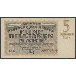 1923, Deutsche Reichsbahn 5 Billionen Mark
