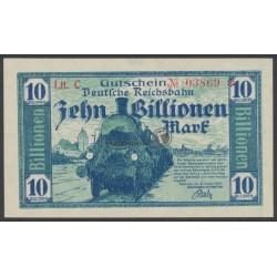 1923, Deutsche Reichsbahn 10 Billionen Mark