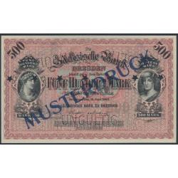 Sächsische Bank 500 Mark Musterdruck