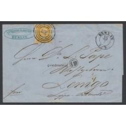 1858, Preußen Faltbrief Berlin-Lemgo