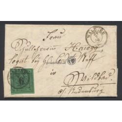 1855, Faltbrief Württemberg Waldsee-Neuenbürg