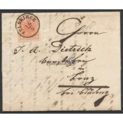 1856, Faltbrief Feldkirch (V)-Braz(V)