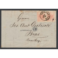 1855 Brief, Innsbruck(T) - Braz(V)