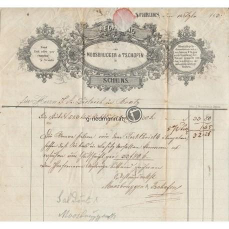 1863 Rechnung, Schruns-Braz
