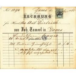 1865, Rechnung Zams (T)