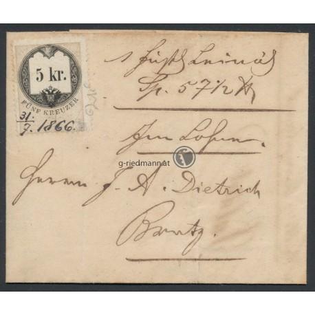 1866, Rechnung F.J. Bargehr