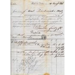 1866 Rechnung Darthe Fritz, Wald(V)