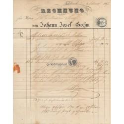 1867 Rechnung J.J. Sohm, Feldkirch (V)