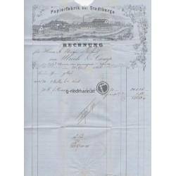 1866, Preußen, Rechnung Westheim-Erfurt