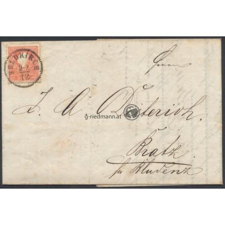 1858, Rechnung, F. Gissinger Feldkirch (V)