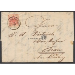 1854, Brief Feldkirch - Braz