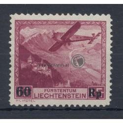 1935, Flugpostmarke mit Aufdruck