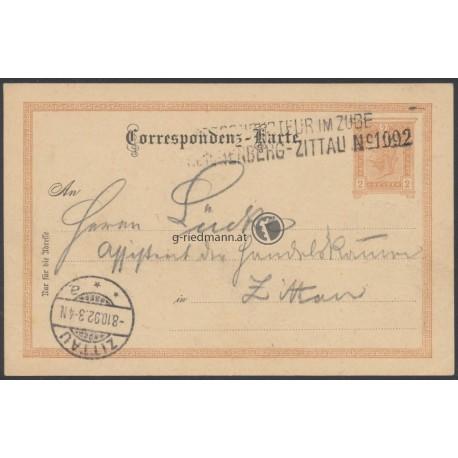 1892, Postcondukteur im Zuge