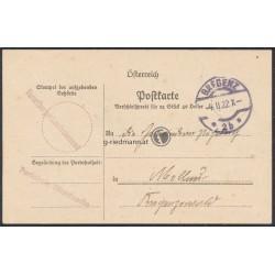 1922, Dienstsache Bregenz - Mellau