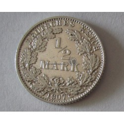 1/2 Mark (Ag) , 1907 E