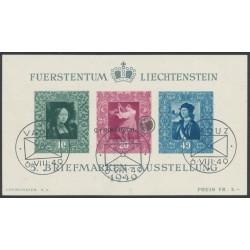 Blockausgabe - Liechtensteiner Briefmarkenausstellung