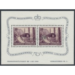1946, Blockausgabe - Liechtensteinische Briefmarkenausstellung
