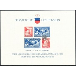 "2. Blockausgabe ""Briefmarkenausstellung in Vaduz"""