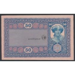 50 Kronen, ohne Lotterieaufdruck - Donaustaat