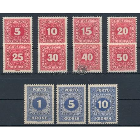K.u.K. Portomarken, Neue Ziffernzeichnung