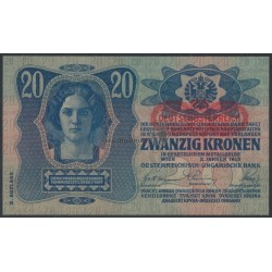 20 Kronen mit Aufdruck (DÖ)