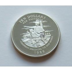 1988 Bahamas, 10 Dollars