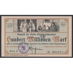 100 Millionen Mark - Notgeld