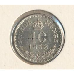 10 Kreuzer 1858 (Kaiser Franz Joseph I.)