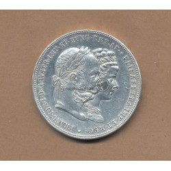 2 Gulden zur Silberhochzeit 1879