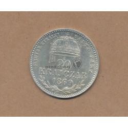 20 Kreuzer 1869 K.B. Kaiser Franz Joseph