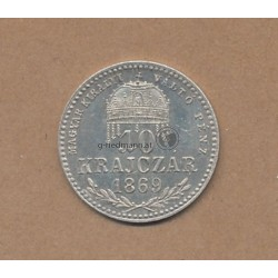 10 Kreuzer 1869 K.B. Kaiser Franz Joseph