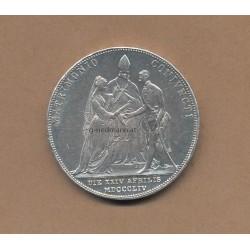 1 Taler (2 Gulden) 1854 Kaiser Franz Joseph I./Sissi
