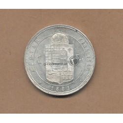 1881 K.B. 1 Forint (Gulden)