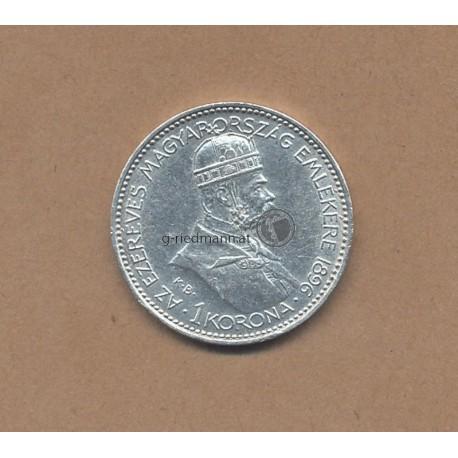 1 Korona 1896 Ungarn Franz Joseph I.