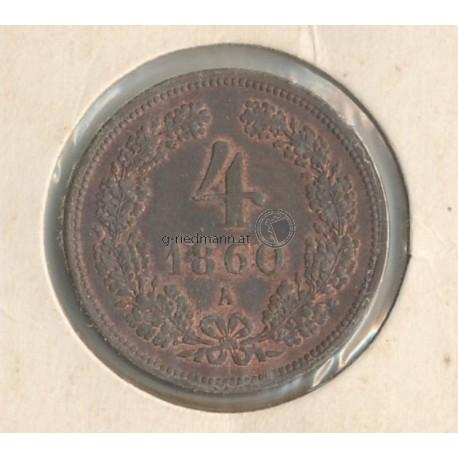 4 Kreuzer 1860 Franz Joseph I.