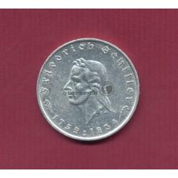 5 Reichsmark 1934F Schiller