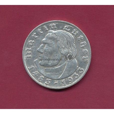2 Reichsmark 1933G Luther