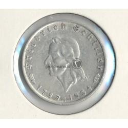 2 Reichsmark 1934F Schiller