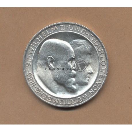 3 Mark Württemberg 1911
