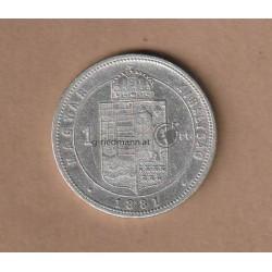 1 Forint (Gulden) 1881