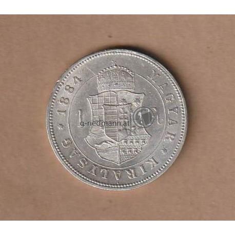 1 Forint (1 Gulden) 1884 K.B.