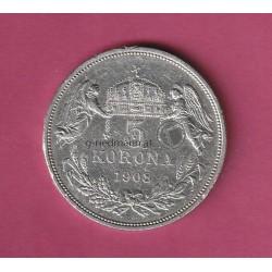5 Korona 1908 Ungarn