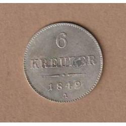 6 Kreuzer 1849 Kaiser Franz Joseph I.