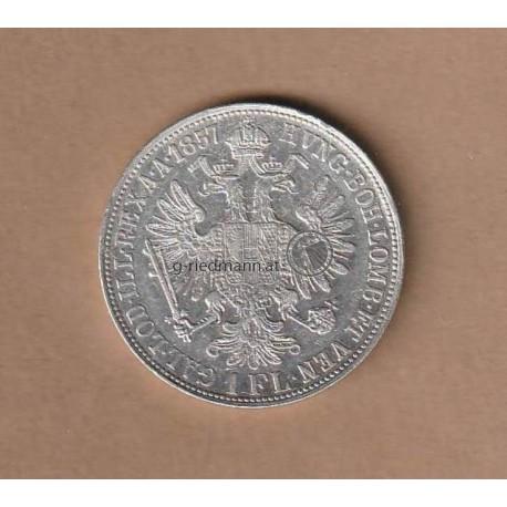 1 Gulden 1859 Kaiser Franz Joseph I.