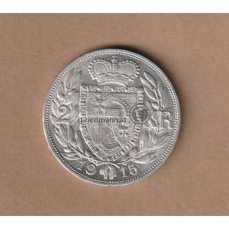 2 Kronen Liechtenstein 1915