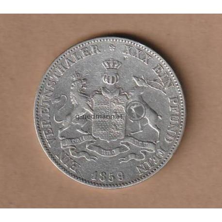 1 Vereinstaler 1859 Württemberg