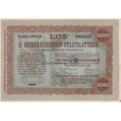 10.000 Kronen Donaustaat m.Aufdruck