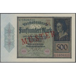 500 Mark Muster-Banknote