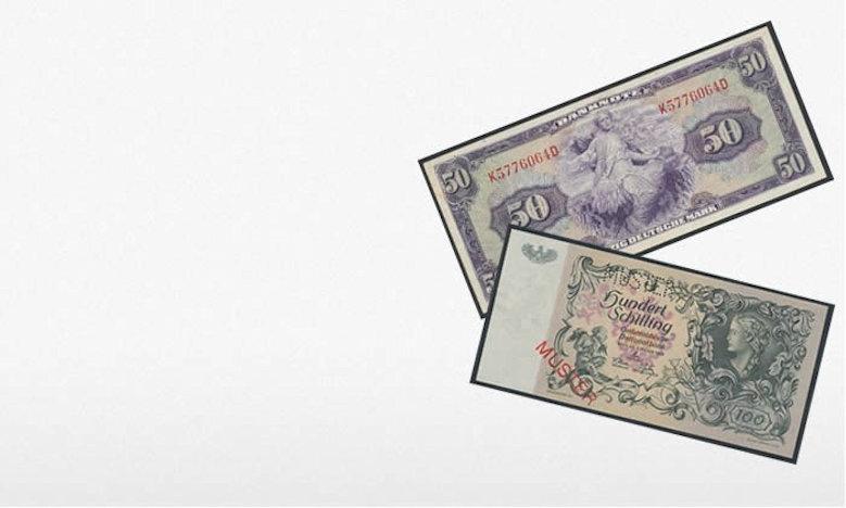 Zu den Banknoten